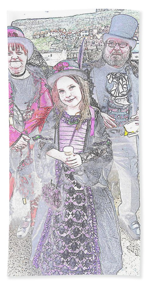 Photograph Hand Towel featuring the photograph Gothic Ice Cream Girl by Nicola Graham