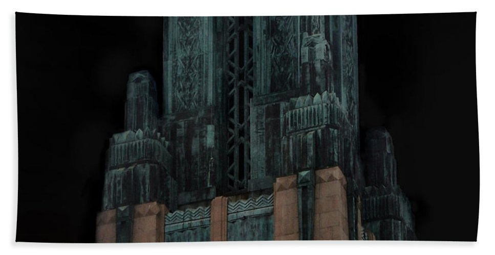 Gothic Hand Towel featuring the photograph Gothic Night. Architecture Of Los Angeles by Sofia Metal Queen