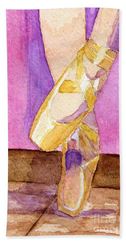 Watercolor Hand Towel featuring the painting Gotta Dance by Lynne Reichhart