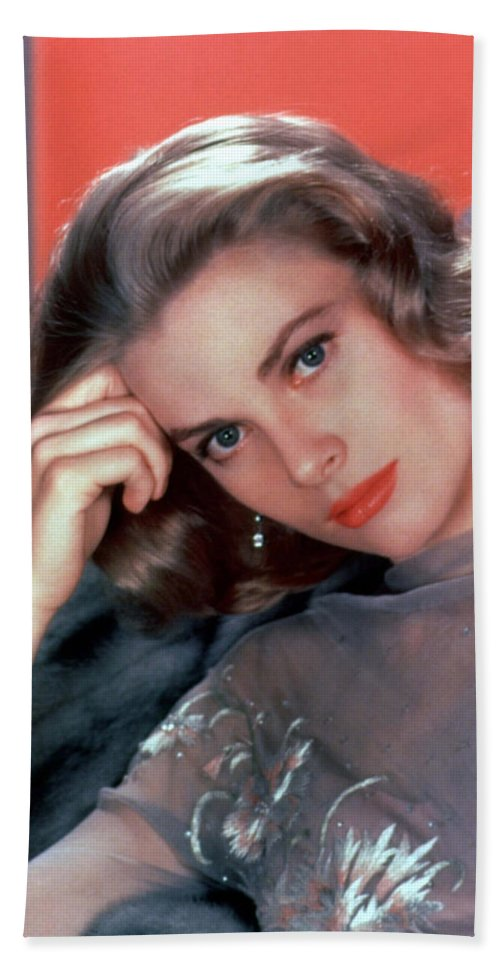 Grace Kelly Bath Sheet featuring the photograph Grace Kelly by American School