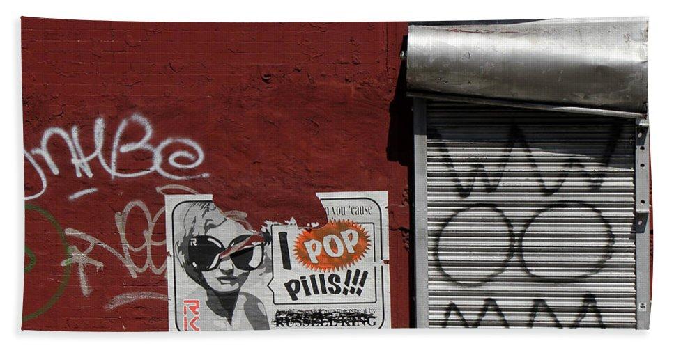 Graffiti Bath Sheet featuring the photograph Graffiti 1 by Andrew Fare