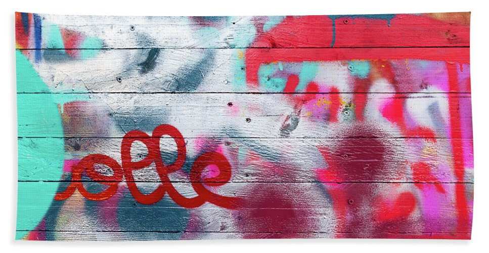 Graffiti Bath Towel featuring the photograph Graffiti 1 by Delphimages Photo Creations