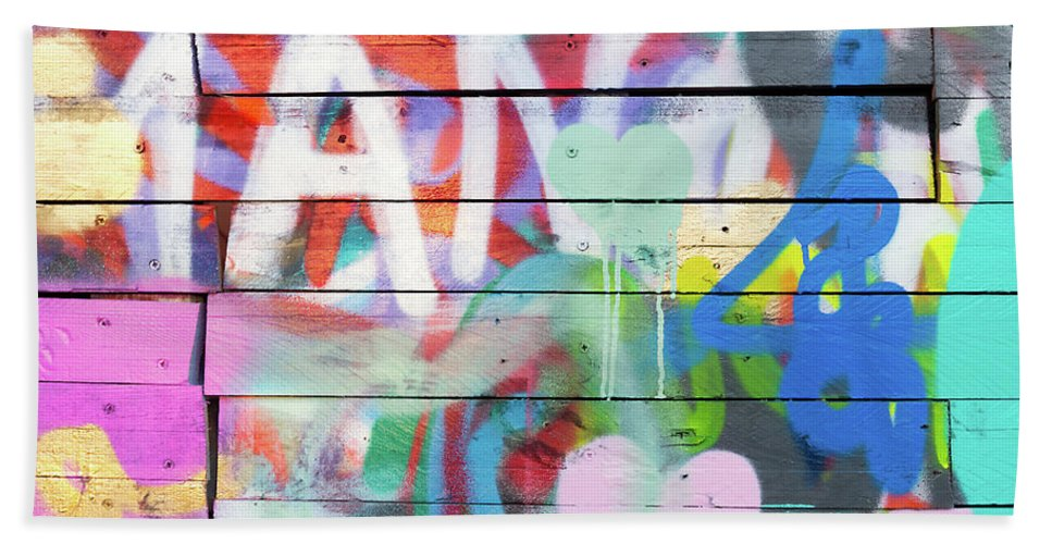 Street Art Bath Towel featuring the photograph Graffiti 4 by Delphimages Photo Creations