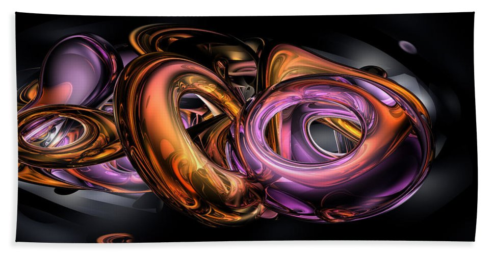 3d Hand Towel featuring the digital art Graffiti Abstract by Alexander Butler