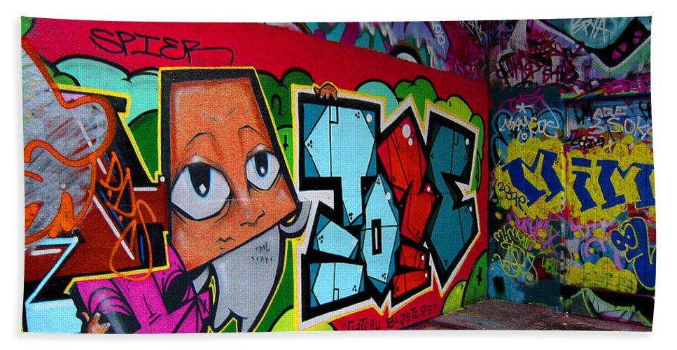 Graffiti Bath Sheet featuring the photograph Graffiti London Style by Madeline Ellis
