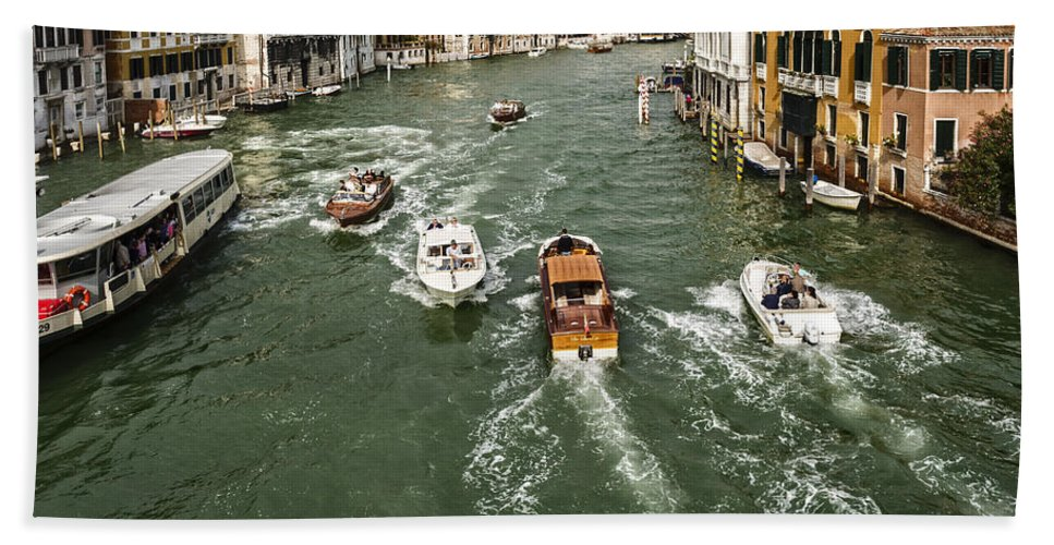 Venice Bath Sheet featuring the photograph Grand Canal by David Kay