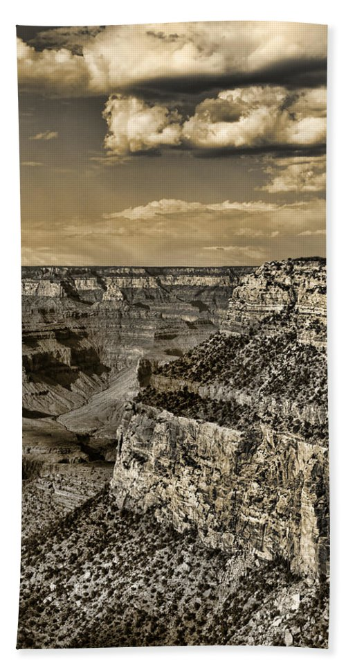 Grand Hand Towel featuring the photograph Grand Canyon - Anselized by Ricky Barnard