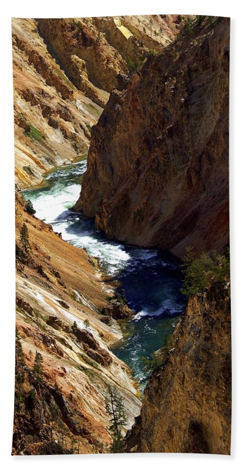 Yellowstone National Park Hand Towel featuring the photograph Grand Canyon Of The Yellowstone 1 by Marty Koch