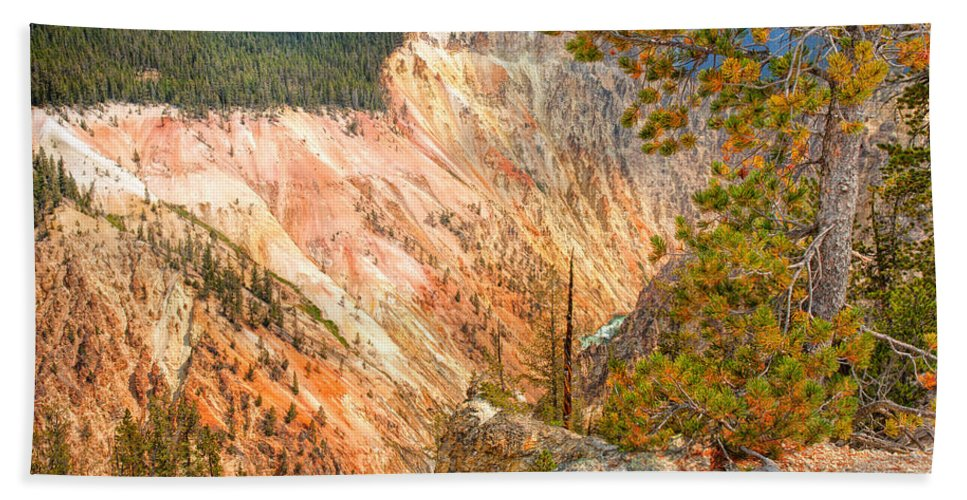 Canyon Hand Towel featuring the photograph Grand Canyon Of The Yellowstone by John M Bailey