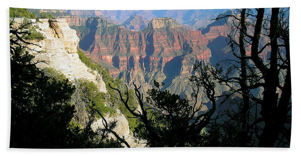 Landscape Bath Sheet featuring the photograph Grand Canyon Sunset On North Rim by Sherry Smith