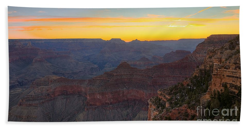 Grand Canyon Hand Towel featuring the photograph Grand Canyon Twilght by James Anderson