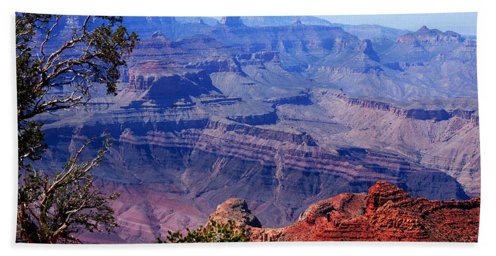 Photography Bath Sheet featuring the photograph Grand Canyon View by Susanne Van Hulst