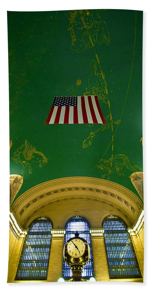 Arrival Bath Sheet featuring the photograph Grand Central View by Svetlana Sewell