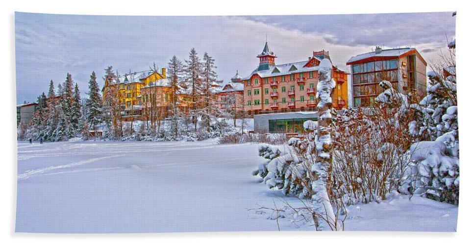 Grand Hotel Kempinski Bath Sheet featuring the photograph Grand Hotel Kempinski V4 by Alex Art and Photo