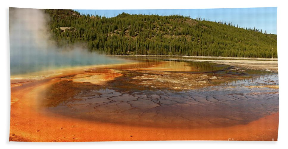 Park Hand Towel featuring the photograph Grand Prismatic Spring by Christiane Schulze Art And Photography