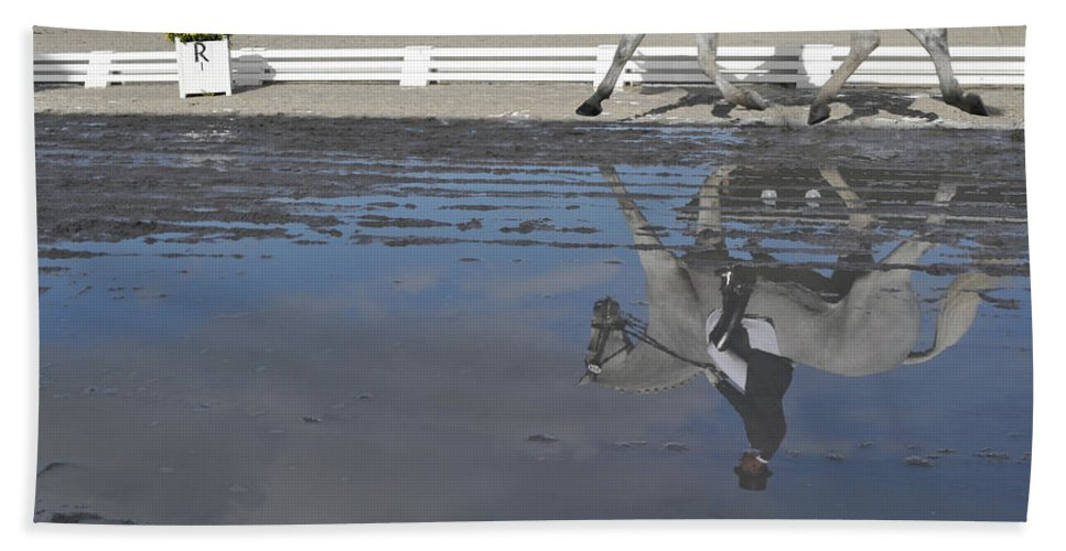 Horse Bath Sheet featuring the photograph Grand Prix Reflected by JAMART Photography
