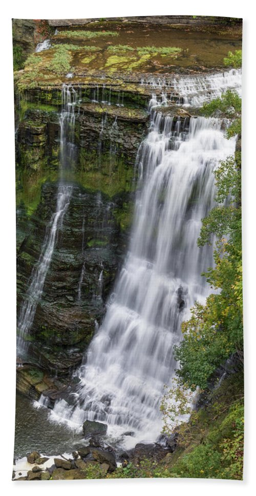 Burgess Falls Bath Sheet featuring the photograph Grandaddy Burgess by John Benedict