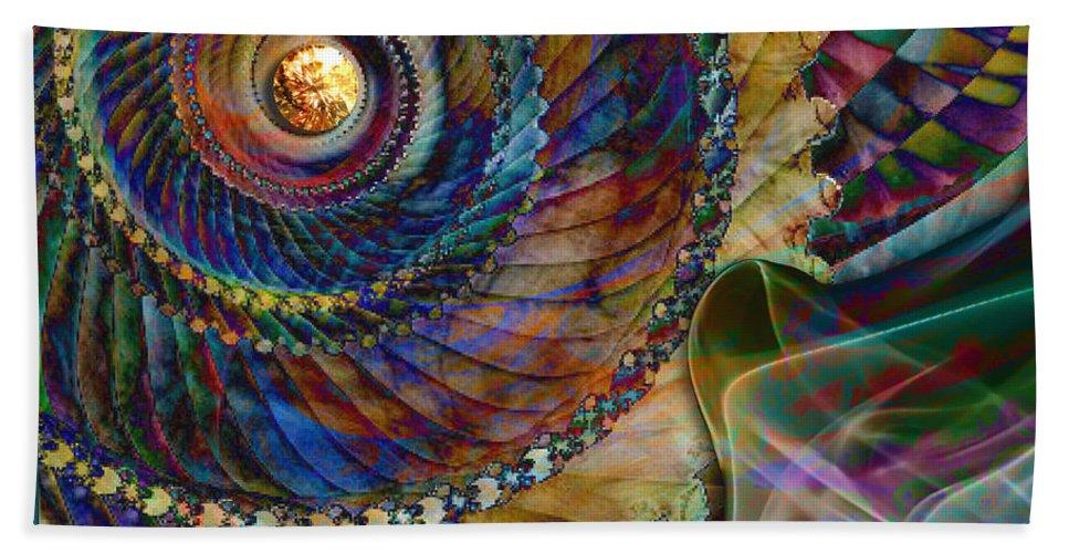 Grandma Hand Towel featuring the digital art Grandma's Treasures by Barbara Berney