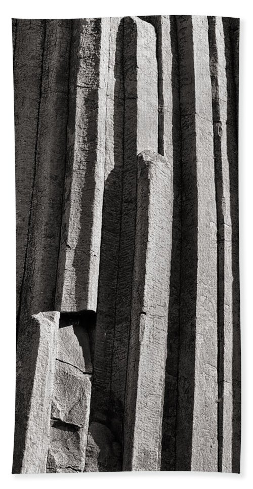 Column Hand Towel featuring the photograph Granite Columns by Nicholas Blackwell