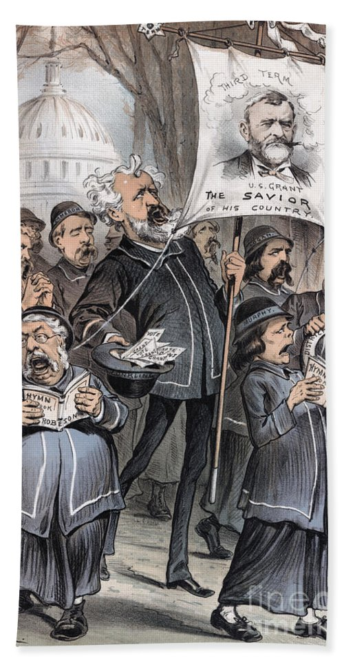 1880 Hand Towel featuring the photograph Grant Cartoon, 1880 by Granger