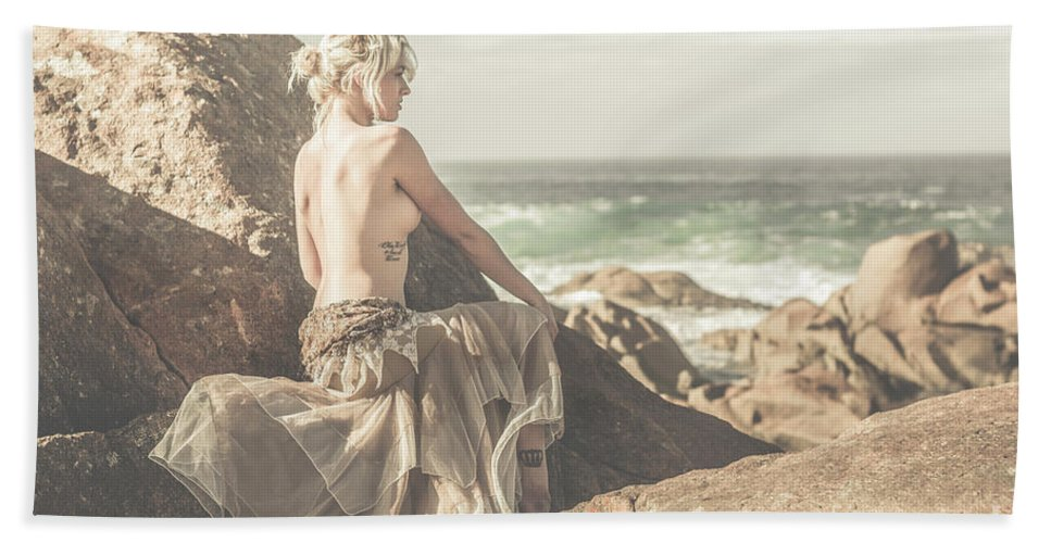 Tasmania Bath Towel featuring the photograph Granville Harbour Tasmania Fine Art Beauty Portrait by Jorgo Photography - Wall Art Gallery
