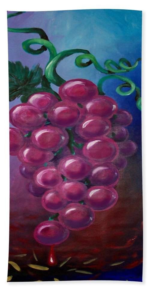 Grape Bath Sheet featuring the painting Grapes by Kevin Middleton