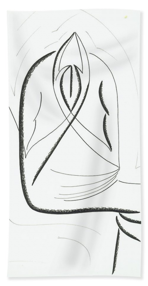 Graphics Bath Towel featuring the drawing Graphics by Ira Mizkevish