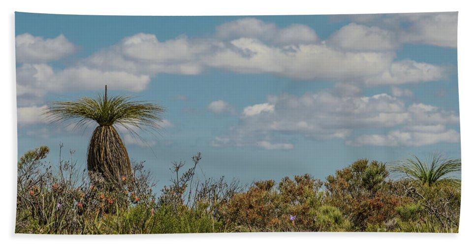 Flora Bath Sheet featuring the photograph Grass Tree Landscape by Werner Padarin