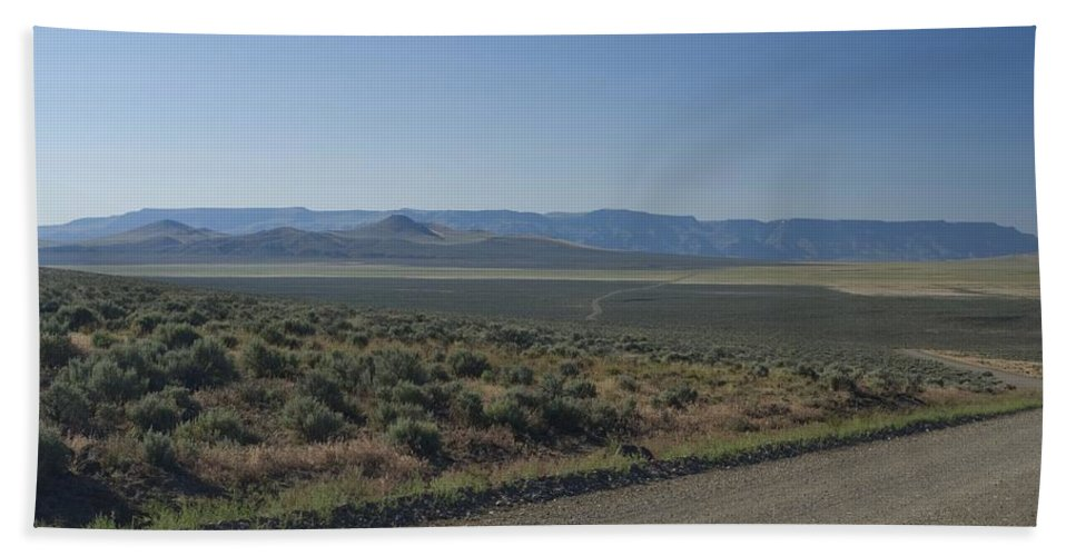 Gravel Hand Towel featuring the photograph Gravel Road by Sara Stevenson