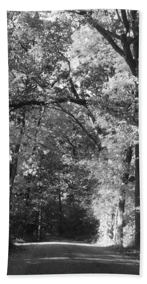 Back Bath Sheet featuring the photograph Graves Rd by September Stone
