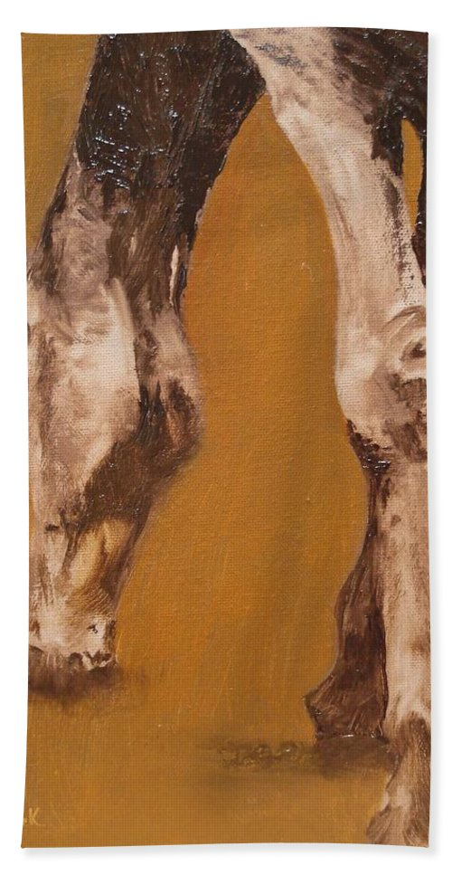 Animals Hand Towel featuring the painting Grazing by Barbara Andolsek