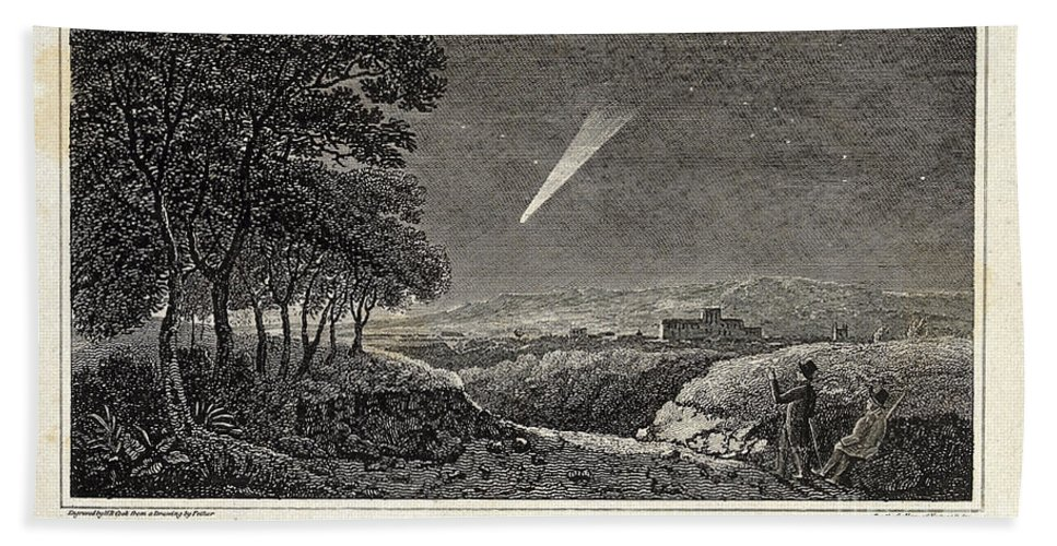 Science Bath Sheet featuring the photograph Great Comet Of 1811 by Wellcome Images
