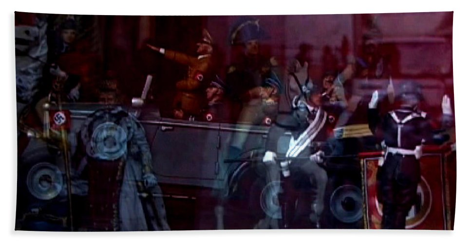 Dream Hand Towel featuring the photograph Great Dictators As Tin Men by Charles Stuart