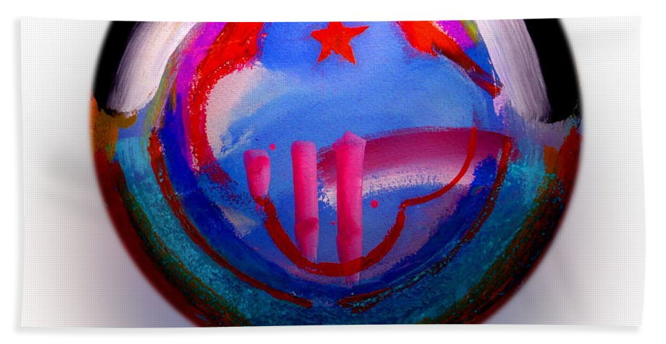 9/11 Hand Towel featuring the painting Great Glad Morning by Charles Stuart