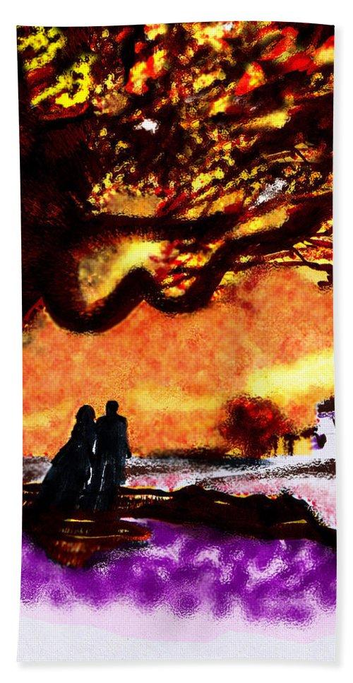 Great Oak Of Tara Bath Sheet featuring the digital art Great Oak Of Tara by Seth Weaver