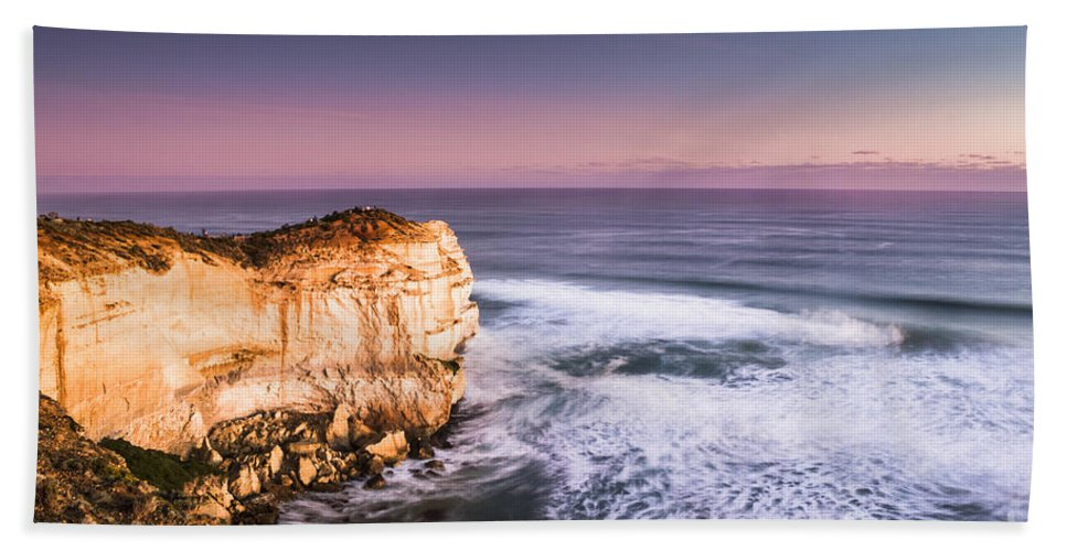 Seascape Hand Towel featuring the photograph Great Ocean Road Seascape by Jorgo Photography - Wall Art Gallery