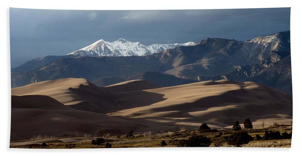Sand Bath Sheet featuring the photograph Great Sand Dunes National Park by Carol Milisen