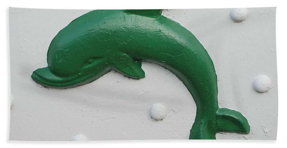 Dolphin Hand Towel featuring the photograph Green Dolphin by Rob Hans