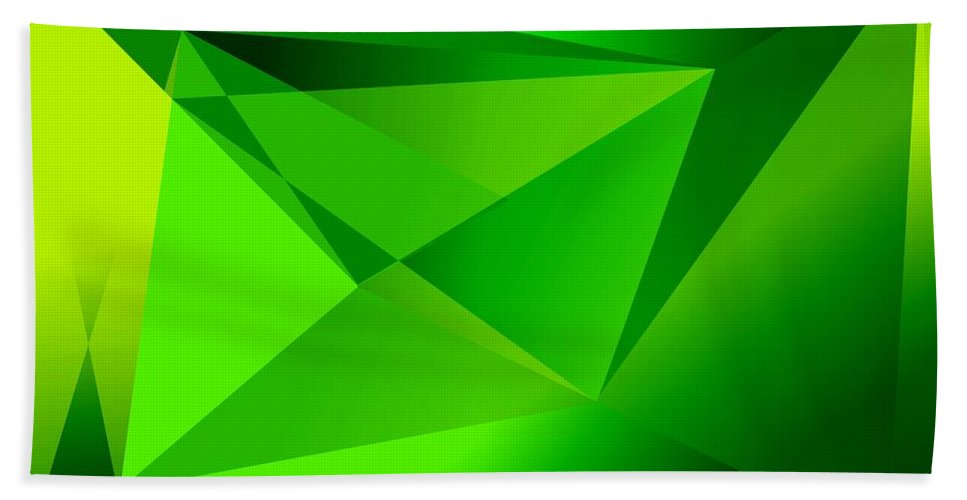 Pyramiden Bath Towel featuring the digital art Green by Helmut Rottler
