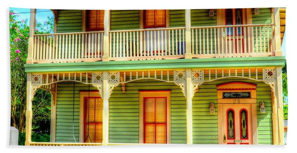 House Bath Sheet featuring the photograph Green House by Debbi Granruth