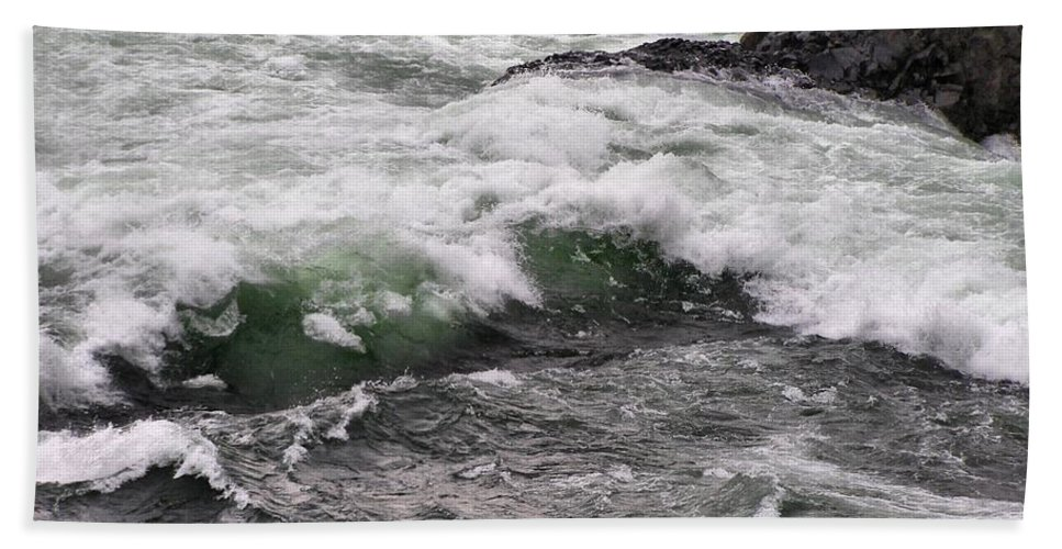 River Bath Sheet featuring the photograph Green Jello by Susan Kinney