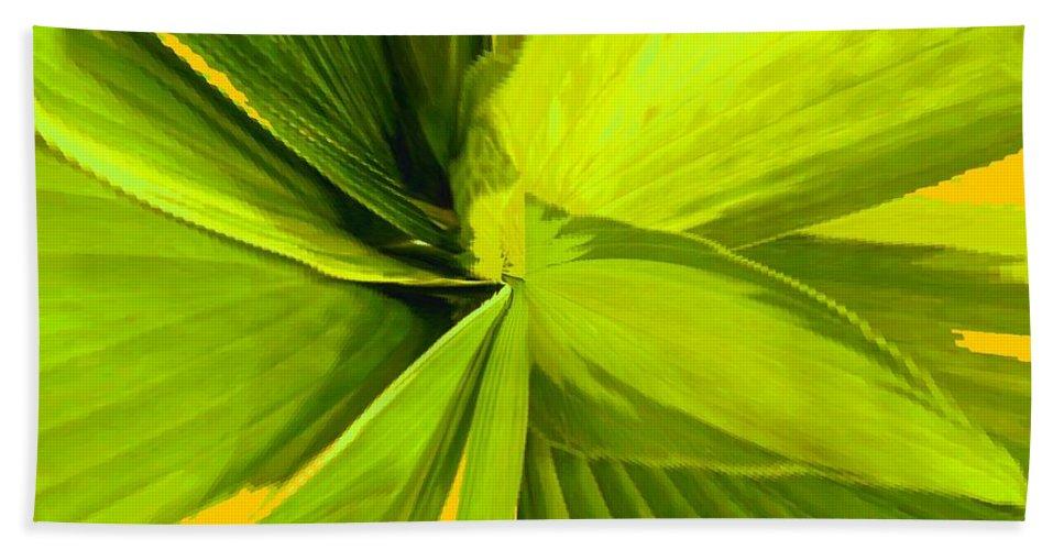 Plant Bath Towel featuring the photograph Green Mosaic by Ian MacDonald