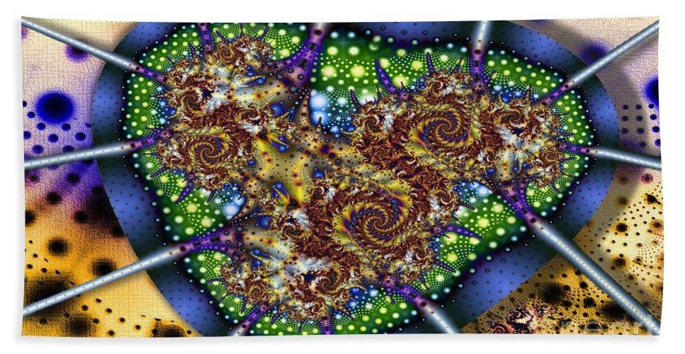 Polka Dots Bath Sheet featuring the digital art Green Polka Dot by Ron Bissett