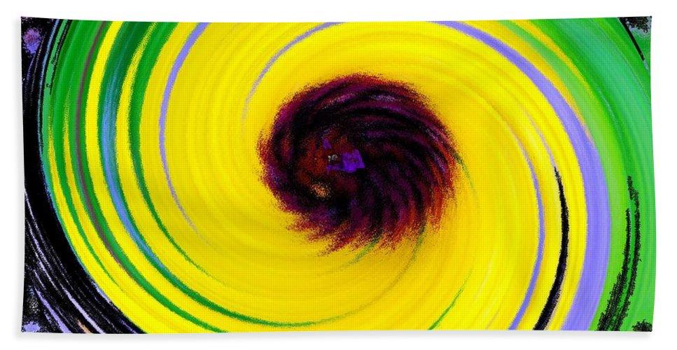 Abstract Hand Towel featuring the digital art Green Rush by Ian MacDonald