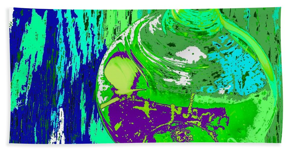Abstract Bath Towel featuring the photograph Green Whirl by Ian MacDonald