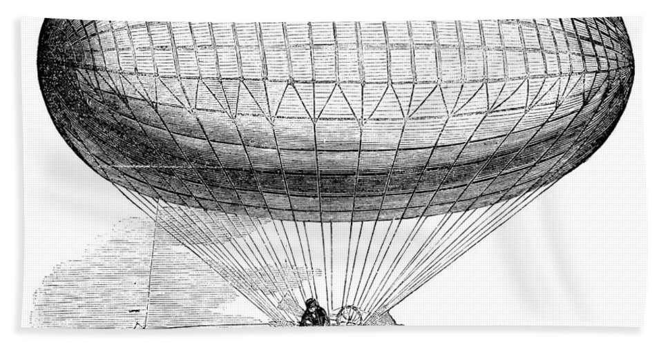 1857 Bath Sheet featuring the photograph Greens Balloon, 1857 by Granger