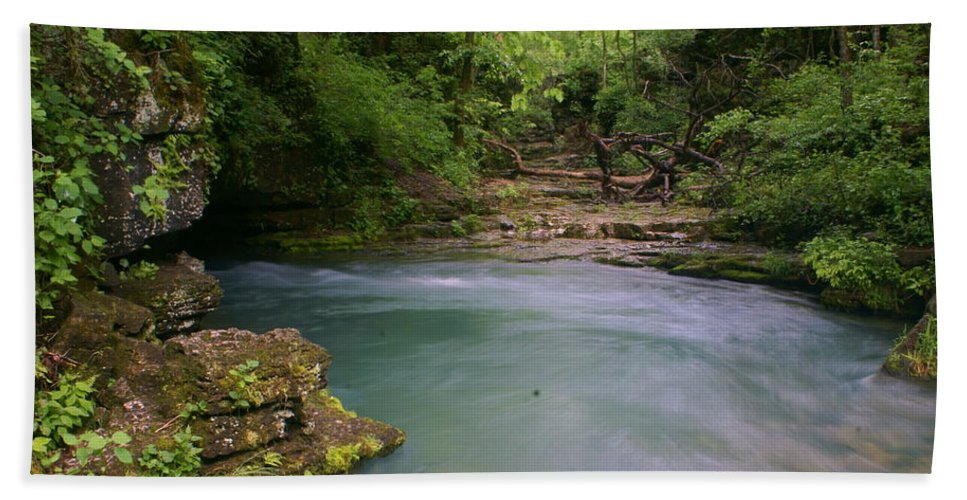 Greer Spring Hand Towel featuring the photograph Greer Spring by Marty Koch