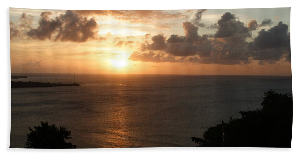 Grenada Hand Towel featuring the photograph Grenadian Sunset I by Jean Macaluso