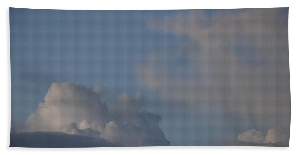 Clouds Hand Towel featuring the photograph Greyskys by Rob Hans