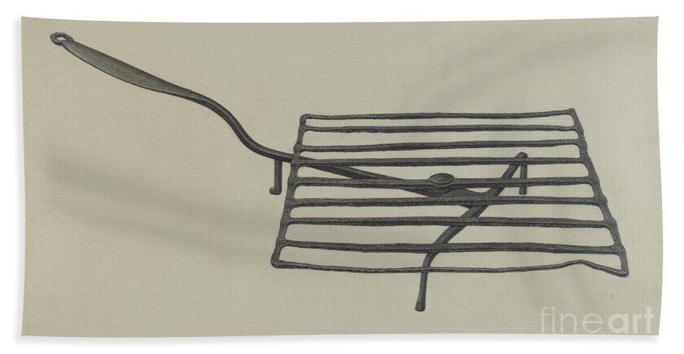 Hand Towel featuring the drawing Gridiron by Mildred Ford